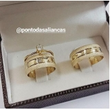alianças de ouro de casamento Sé