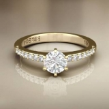 anel em ouro 18k feminino preço Itaquera