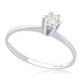 anel em ouro branco Cambuci