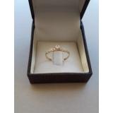 anel em ouro rose Anália Franco