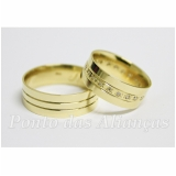 onde comprar aliança de casamento com pedra Mauá