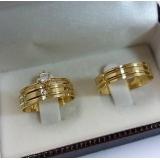 pedido aliança de ouro com pedra Vila Prudente