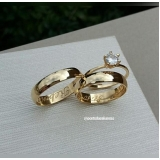preço de aliança de noivado de ouro Glicério