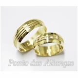 valor da aliança de casamento em ouro Consolação