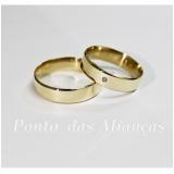 valor da aliança de casamento simples Parque Santa Madalena