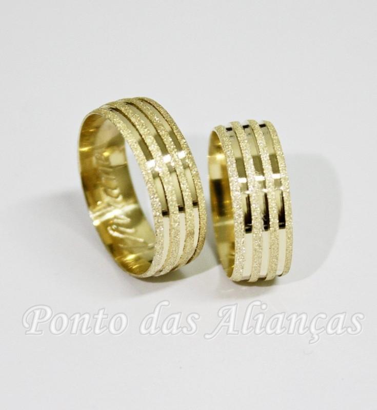 Valor da Aliança de Casamento de Ouro Jardim Iguatemi - Aliança de Casamento Ouro Branco