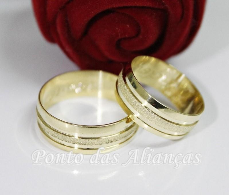 Valor da Aliança de Casamento Grossa Higienópolis - Aliança de Casamento Ouro Branco