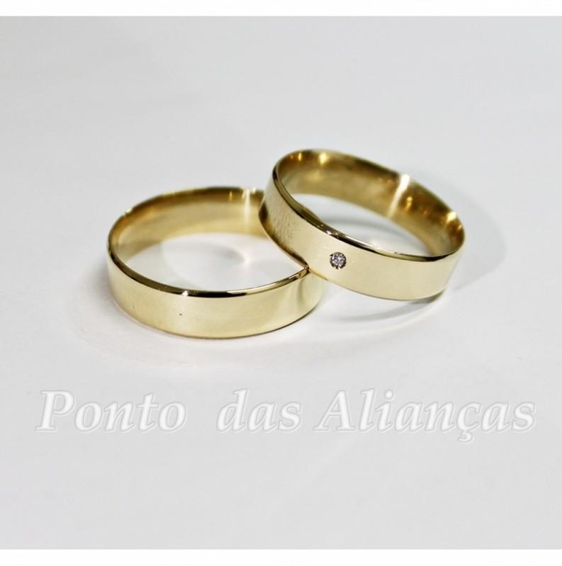 Valor da Aliança de Casamento Simples Parque Santa Madalena - Aliança de Casamento em Ouro
